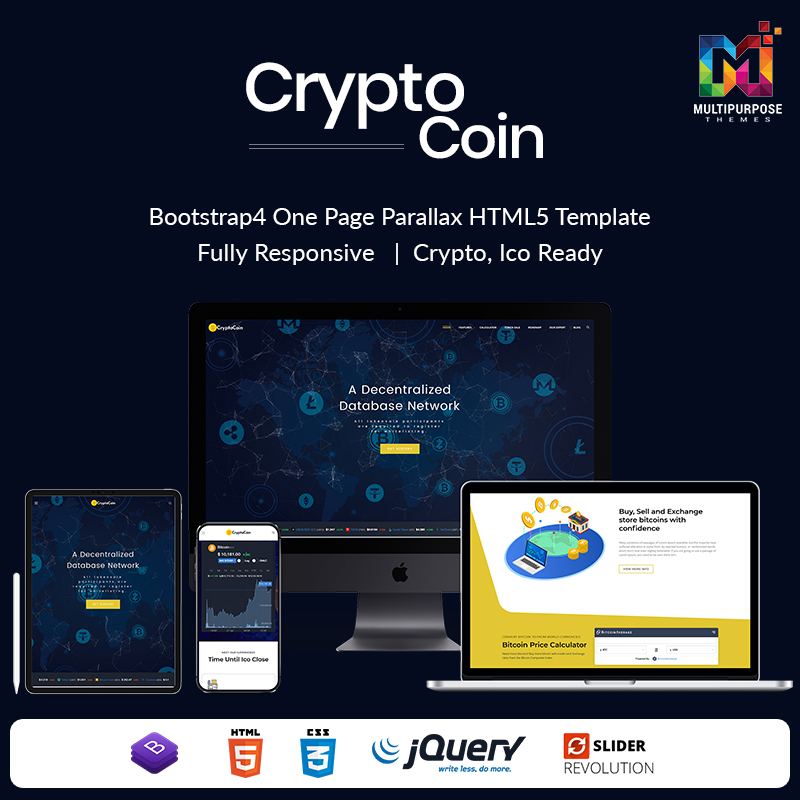 Cryptocurrency HTML Template