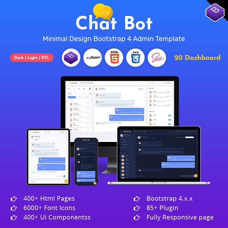 Chatx Bot Responsive Bootstrap Admin Dashboard Template