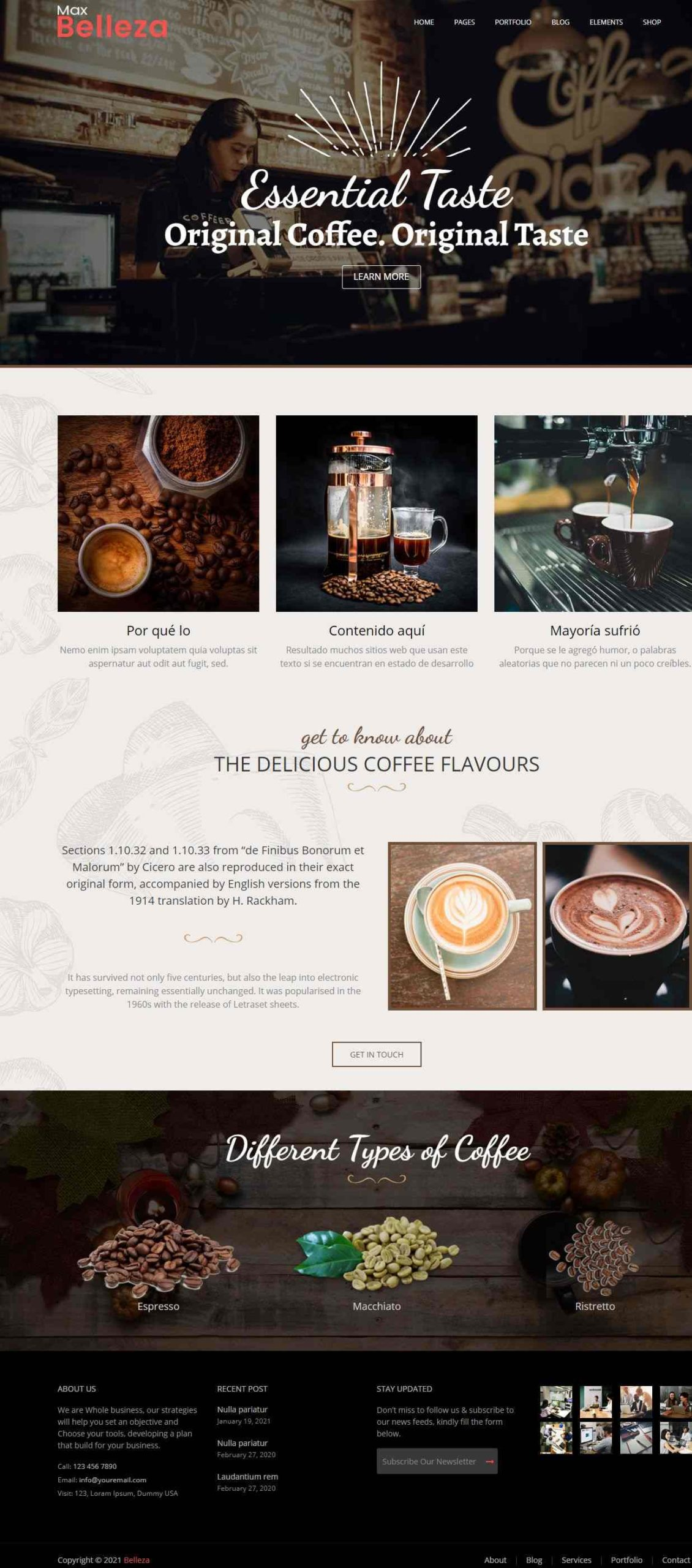 best coffee WordPress