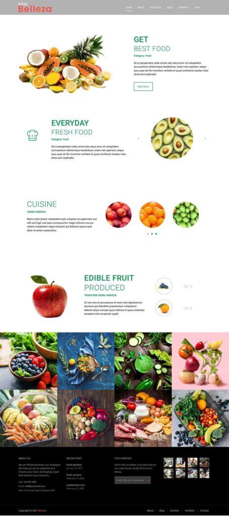 Fresh food WordPress