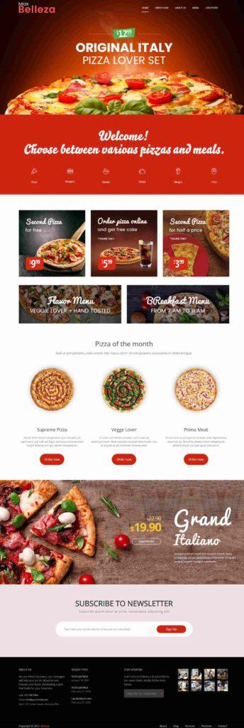 best pizza food WordPress