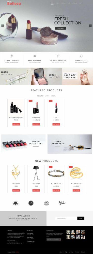 cosmetic store WordPress