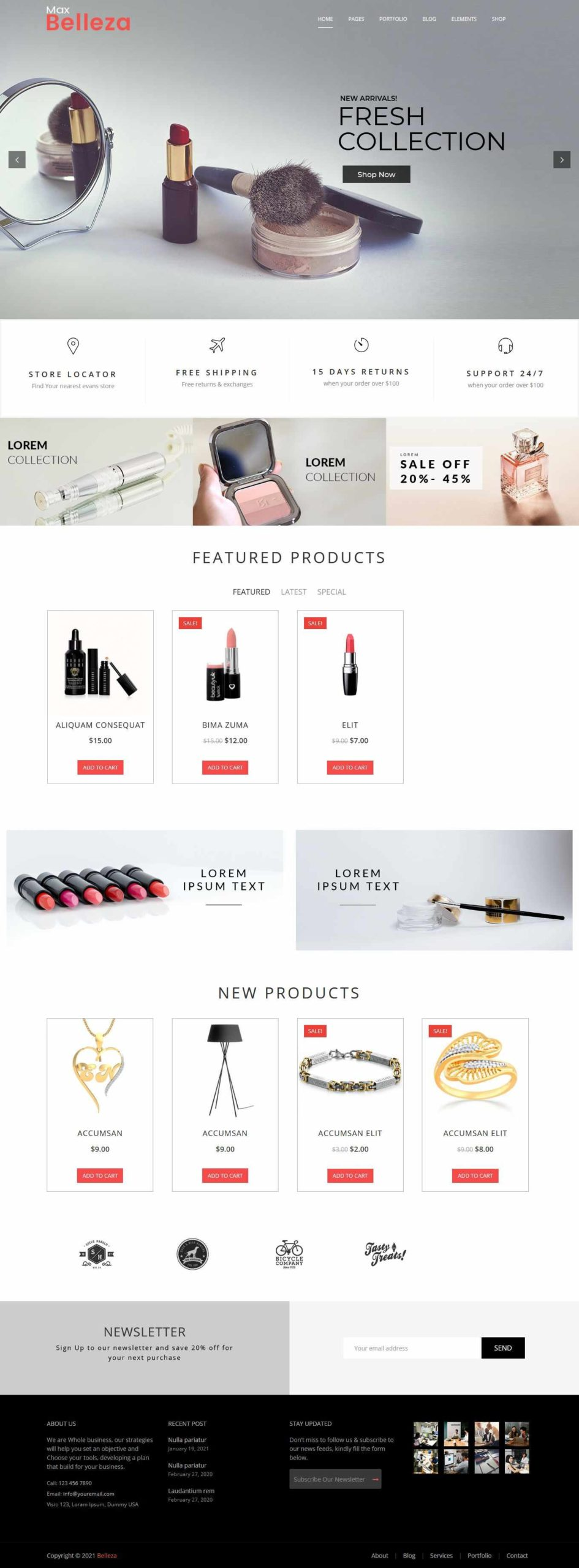 cosmetic store WordPress Themes