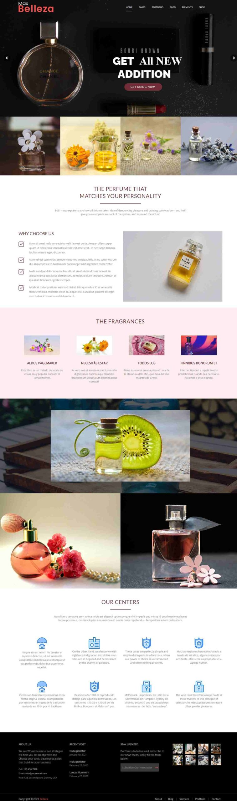 fragrance WordPress Themes