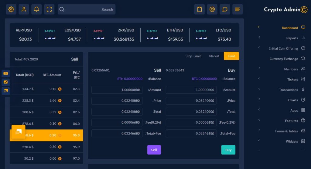 Tokenize Crypto Currency Admin Templates