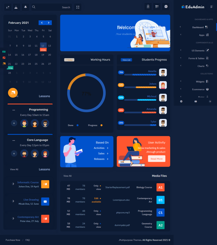 Bootstrap 5 Admin Templates