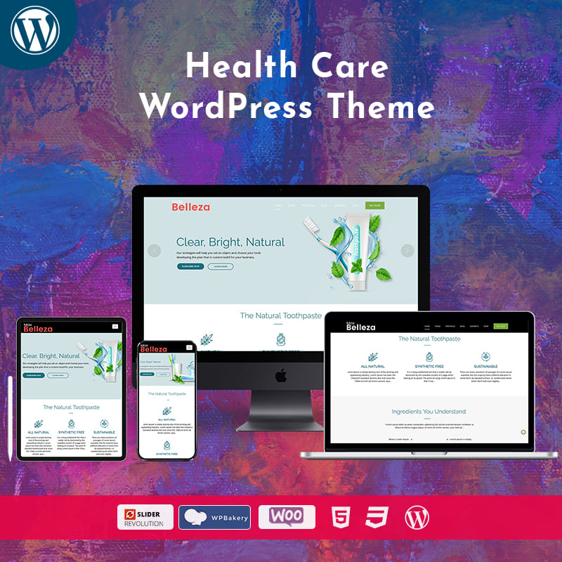 Health Care WordPress Theme – Belleza