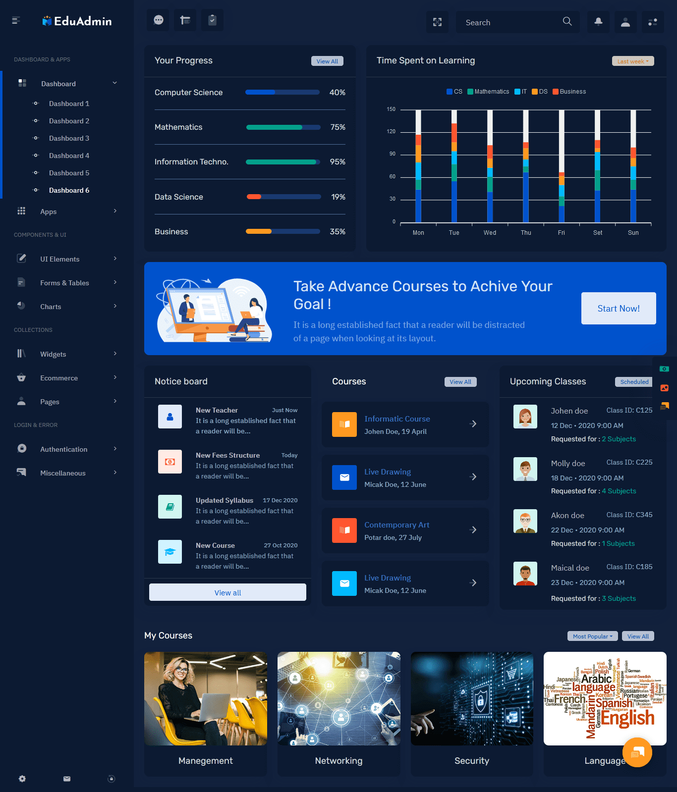 Bootstrap 5 Admin Template
