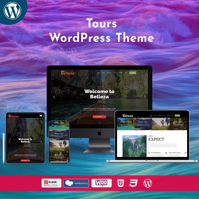 Travel Tour WordPress Theme – Belleza