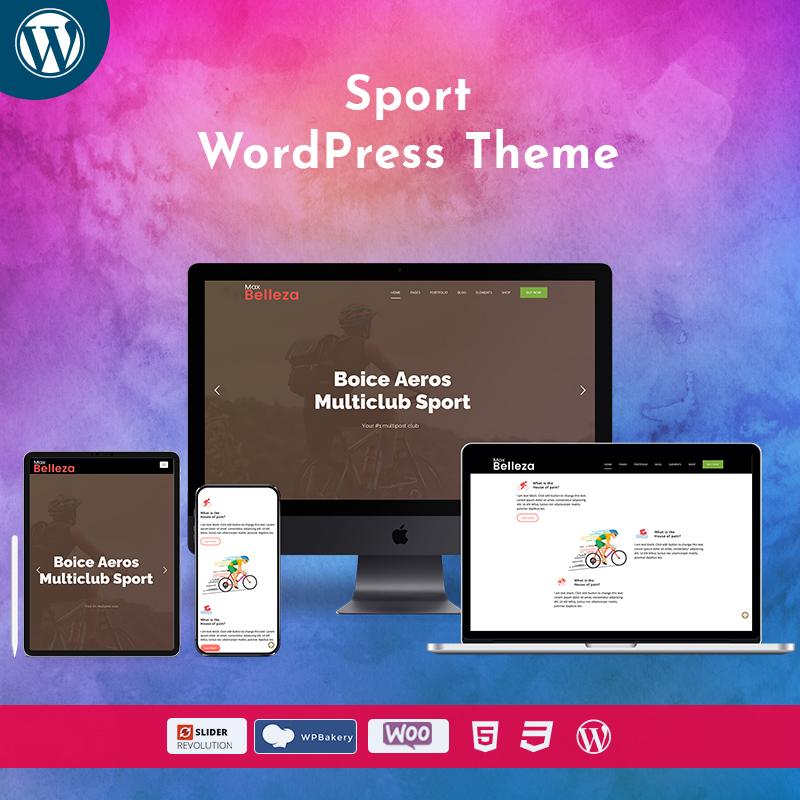 Sport Responsive WordPress Themes – Belleza