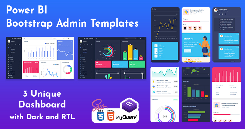 Power BI Bootstrap Admin Templates