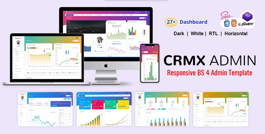 CrmX Bootstrap Admin Templates