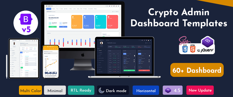 Crypto Bitcoin CryptoCurrency Template