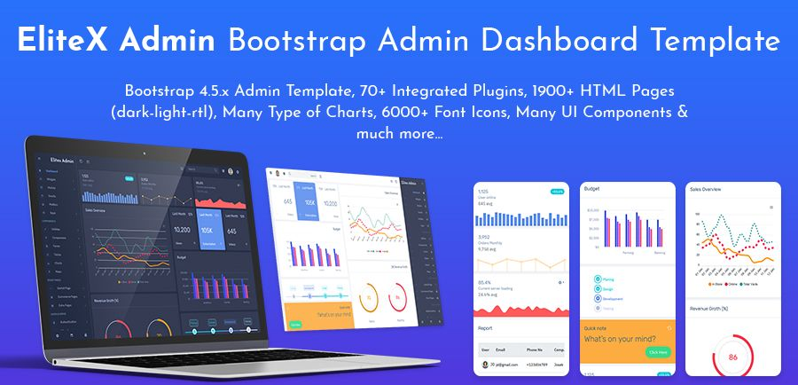 EliteX Bootstrap Admin Templates