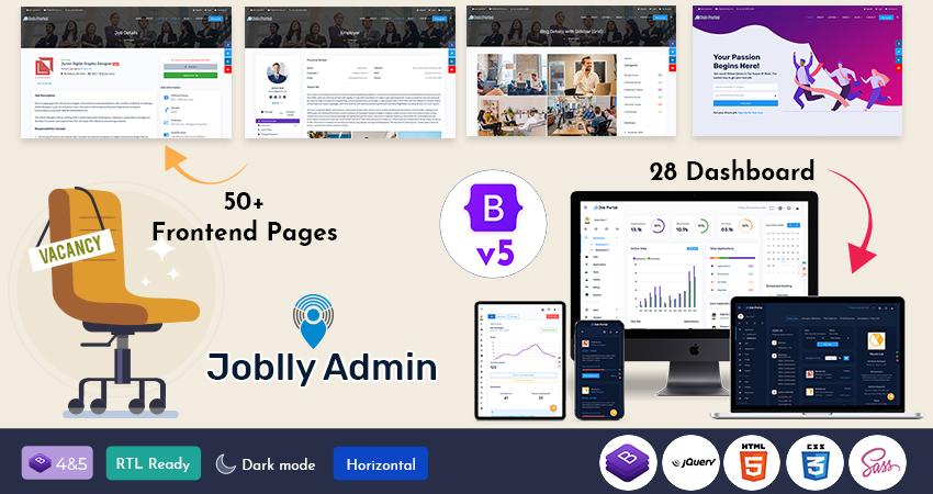 Joblly Bootstrap Admin Templates