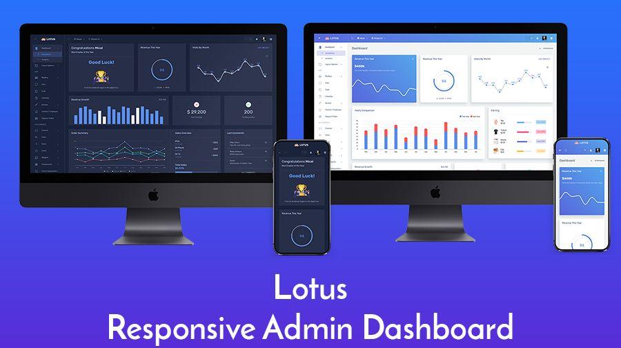 Lotus Admin Dashboard Template