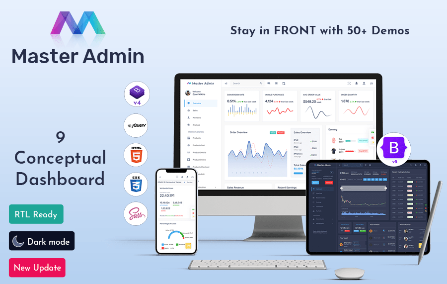 Master Bootstrap 5 Admin Template
