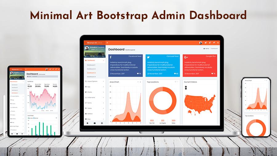 Minimal Bootstrap 4 Admin Dashboard