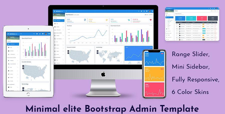 Minimal elite Bootstrap Admin Templates