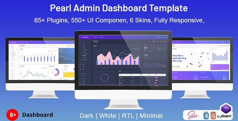 Pearl Bootstrap Admin Template