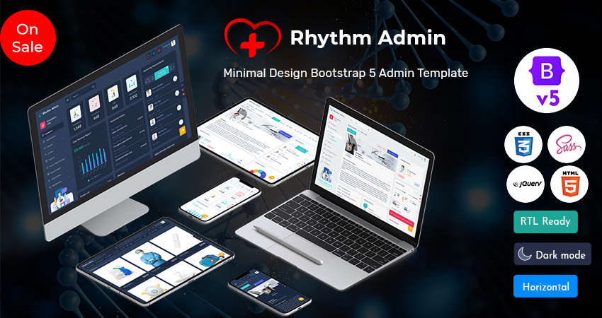 Rhythm Bootstrap 5 Admin Dashboard