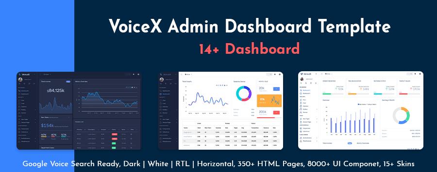VoiceX Bootstrap 4 Admin Dashboard