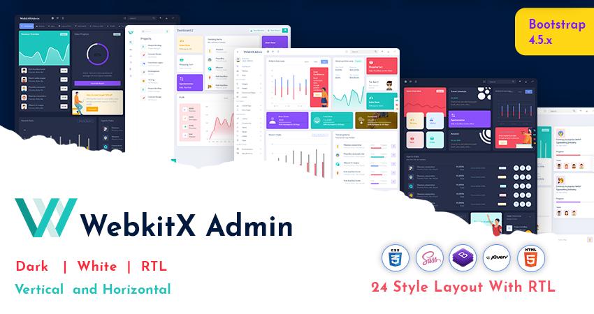 webkitx Bootstrap 5 Admin Dashboard