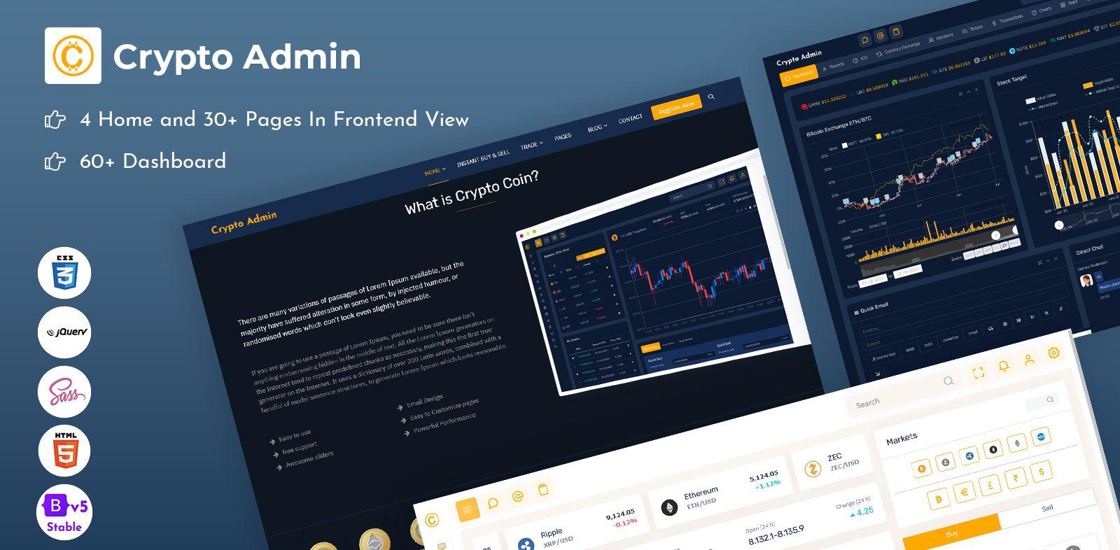 Crypto Bootstrap 5 Admin Templates