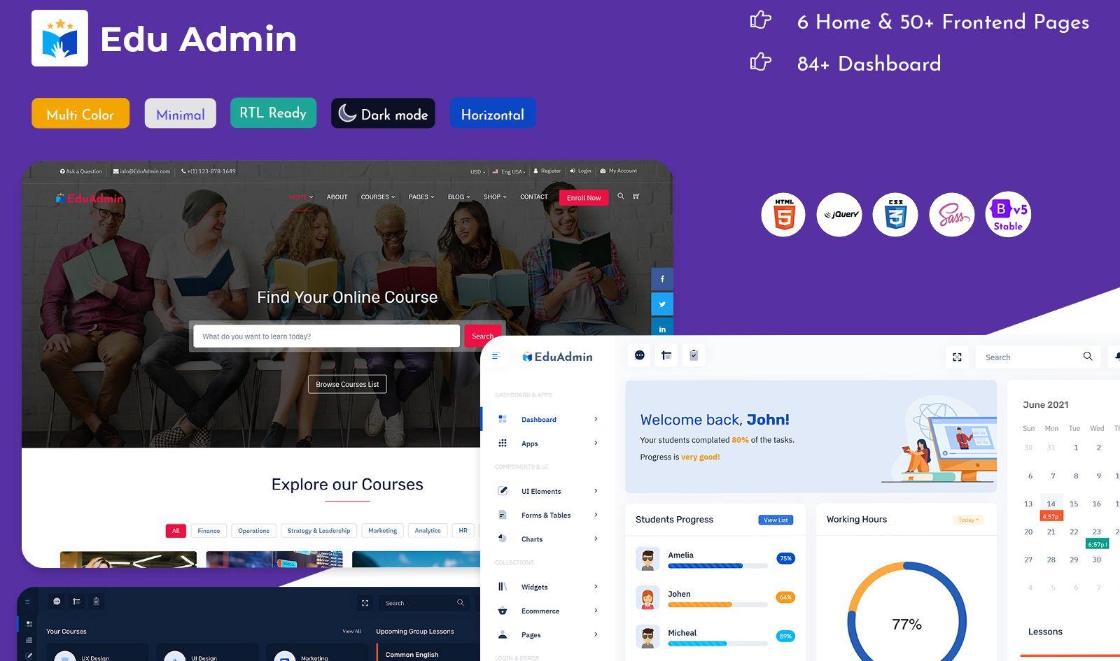 Education Courses HTML Templates