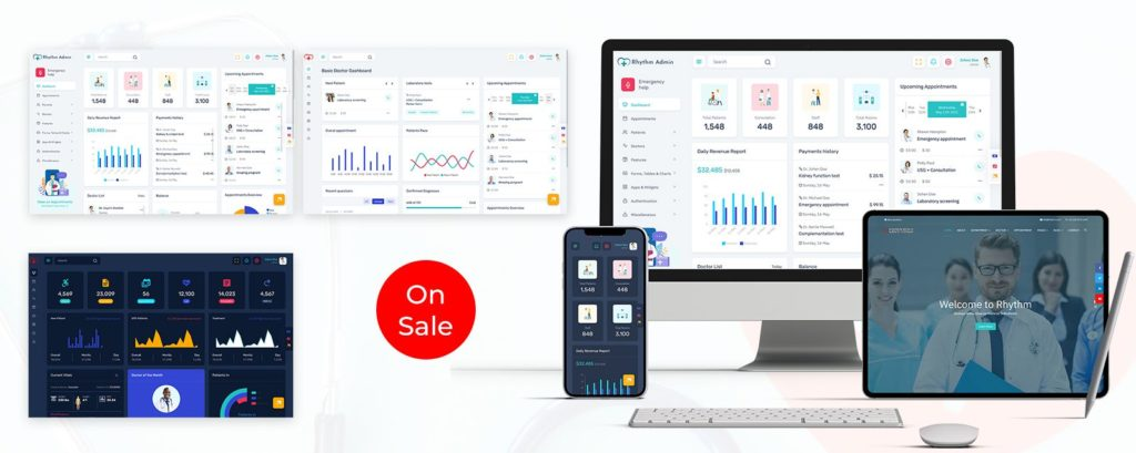 Fully Featured Admin Theme For CRM and CMS