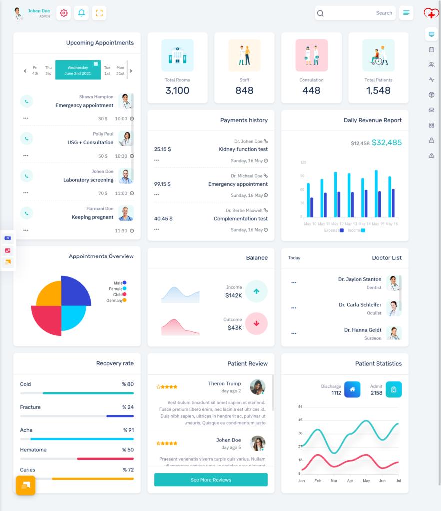 Medical Responsive Bootstrap 5 Admin Dashboard