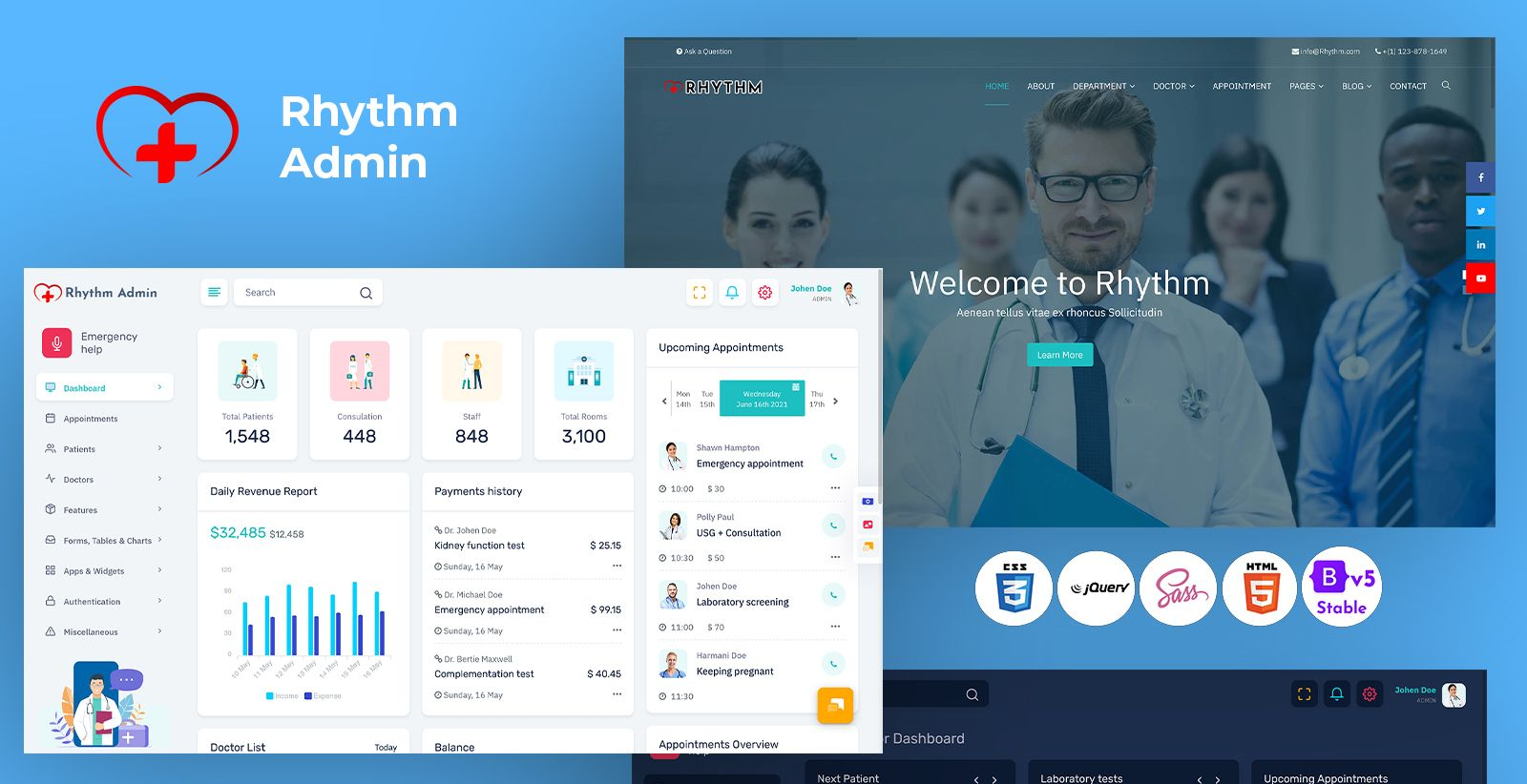 Responsive Bootstrap 5 Admin Template
