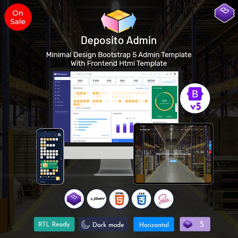 Deposito – Warehouse Responsive Bootstrap 5 Admin Dashboard