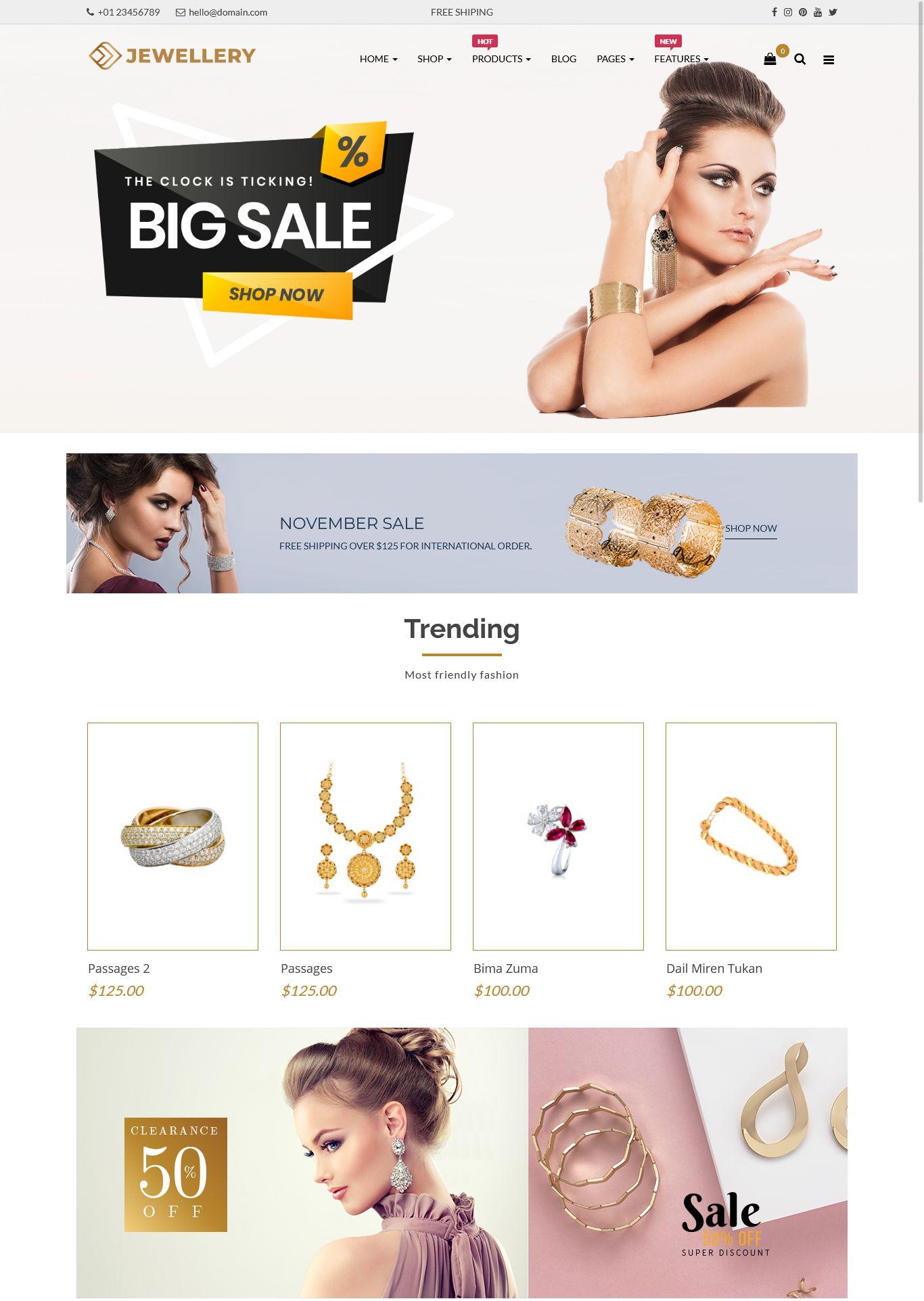 Jewellery Responsive Opencart Theme