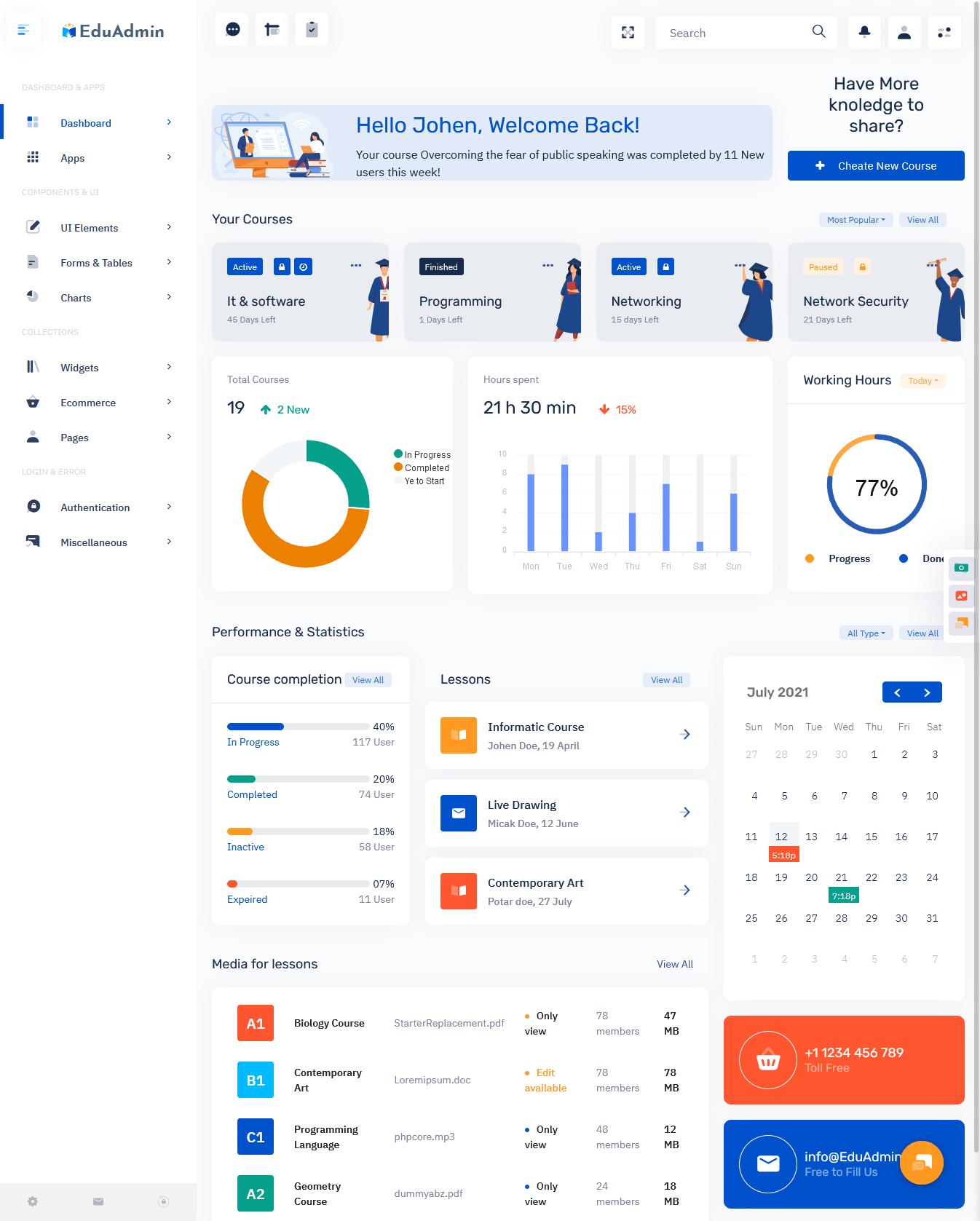 Eduadmin - Responsive Bootstrap 5 Admin Template Dashboard