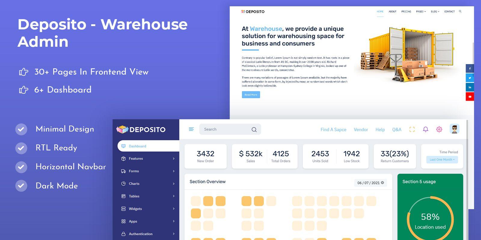Warehouse Bootstrap 5 Admin Templates