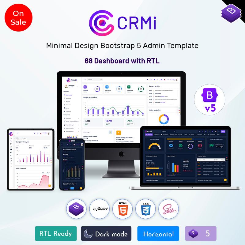 CRM Dashboard Design Bootstrap 5 Admin Template