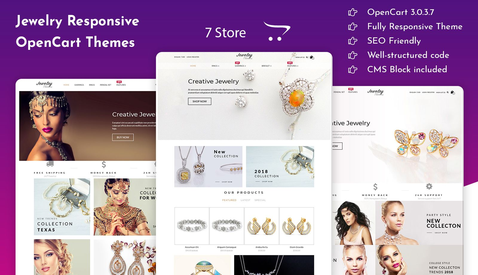 Jewelry Responsive OpenCart Themes