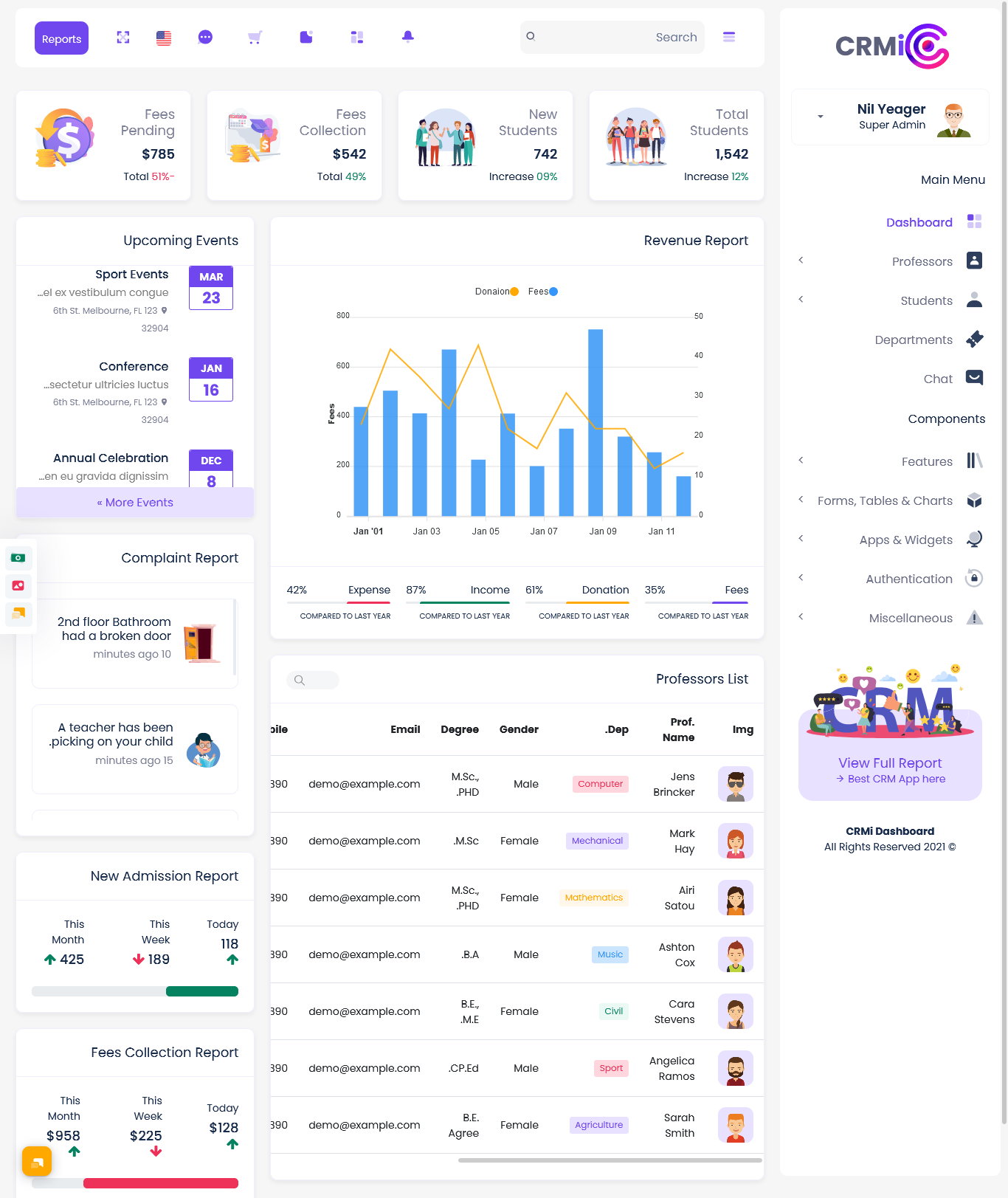 Lawfirm Bootstrap Admin Templates