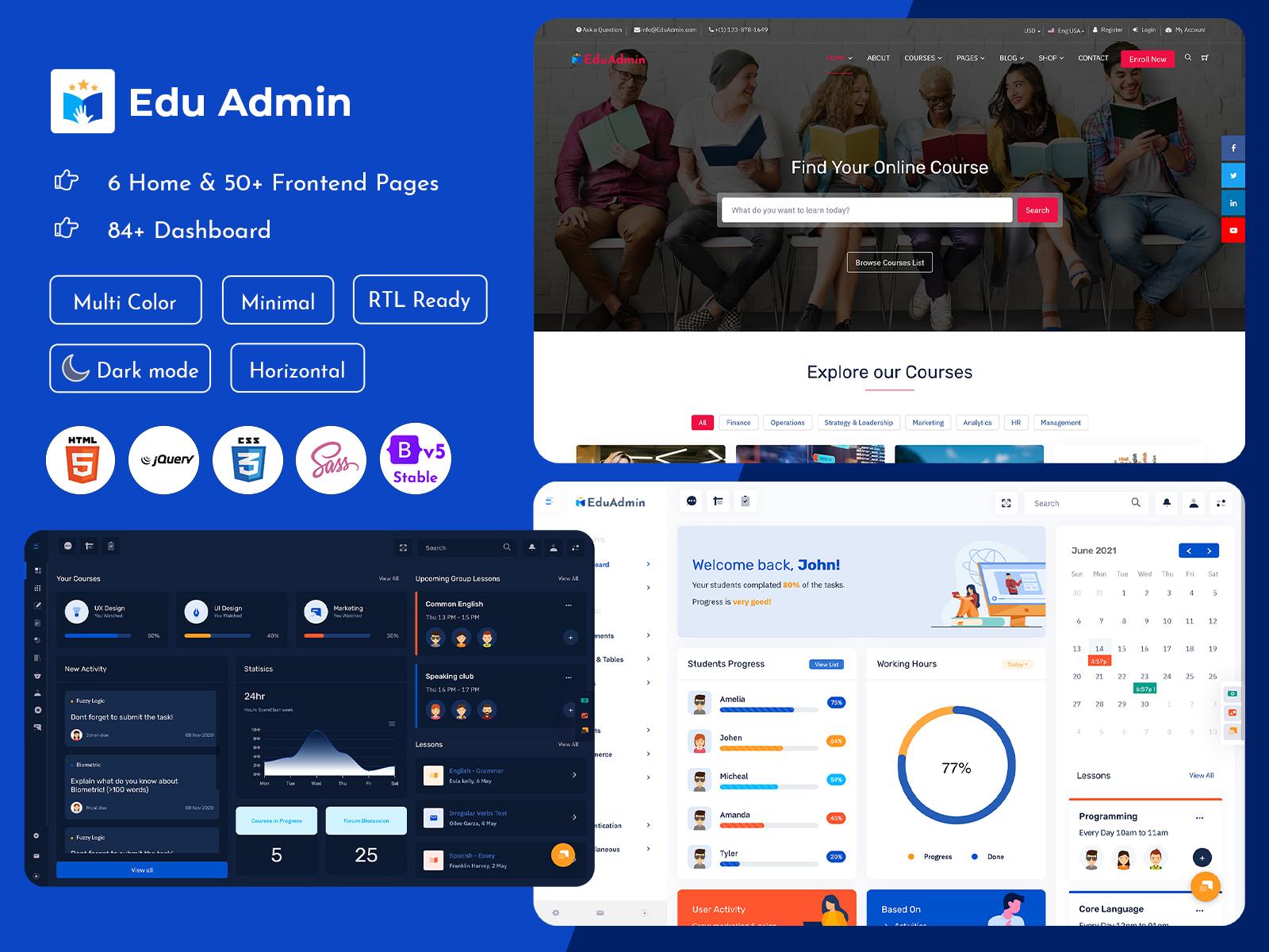 Bootstrap 5 Admin Templates