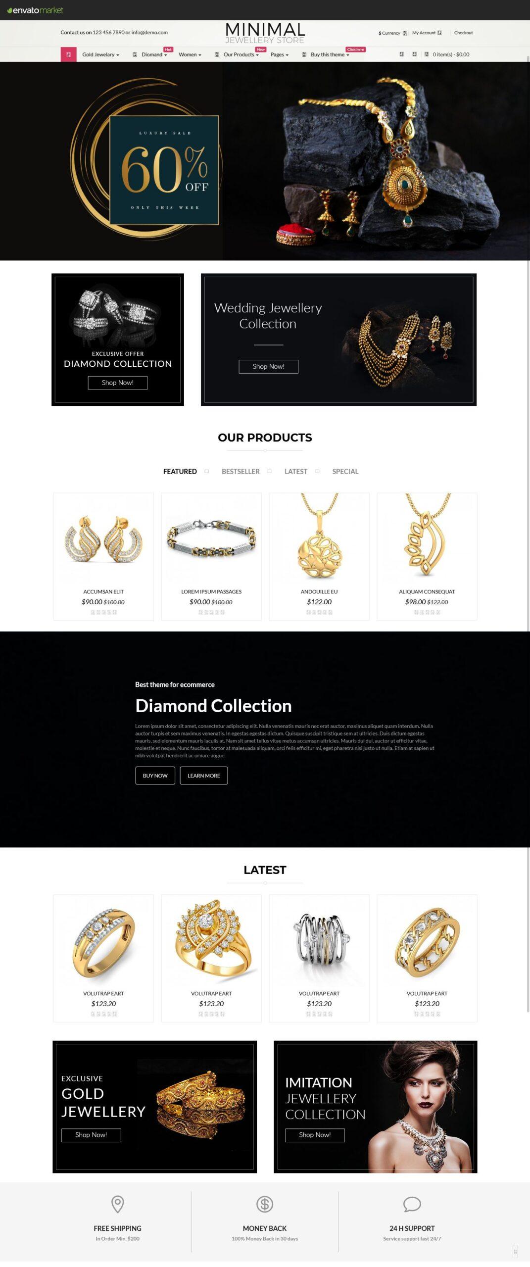 Jewelry Responsive Opencart Theme