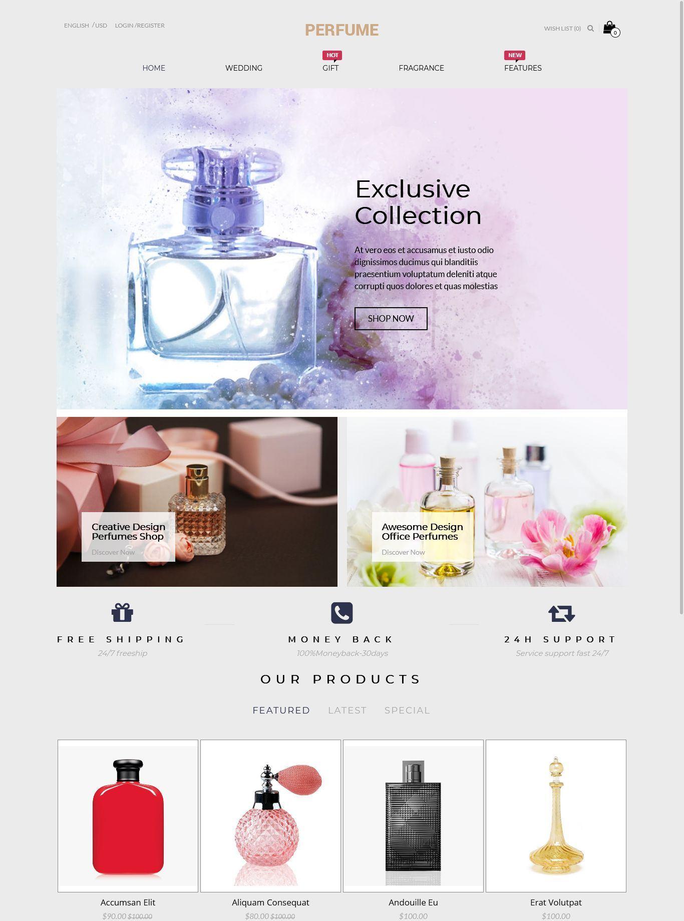 Perfume - Opencart Multi-Purpose Responsive Theme
