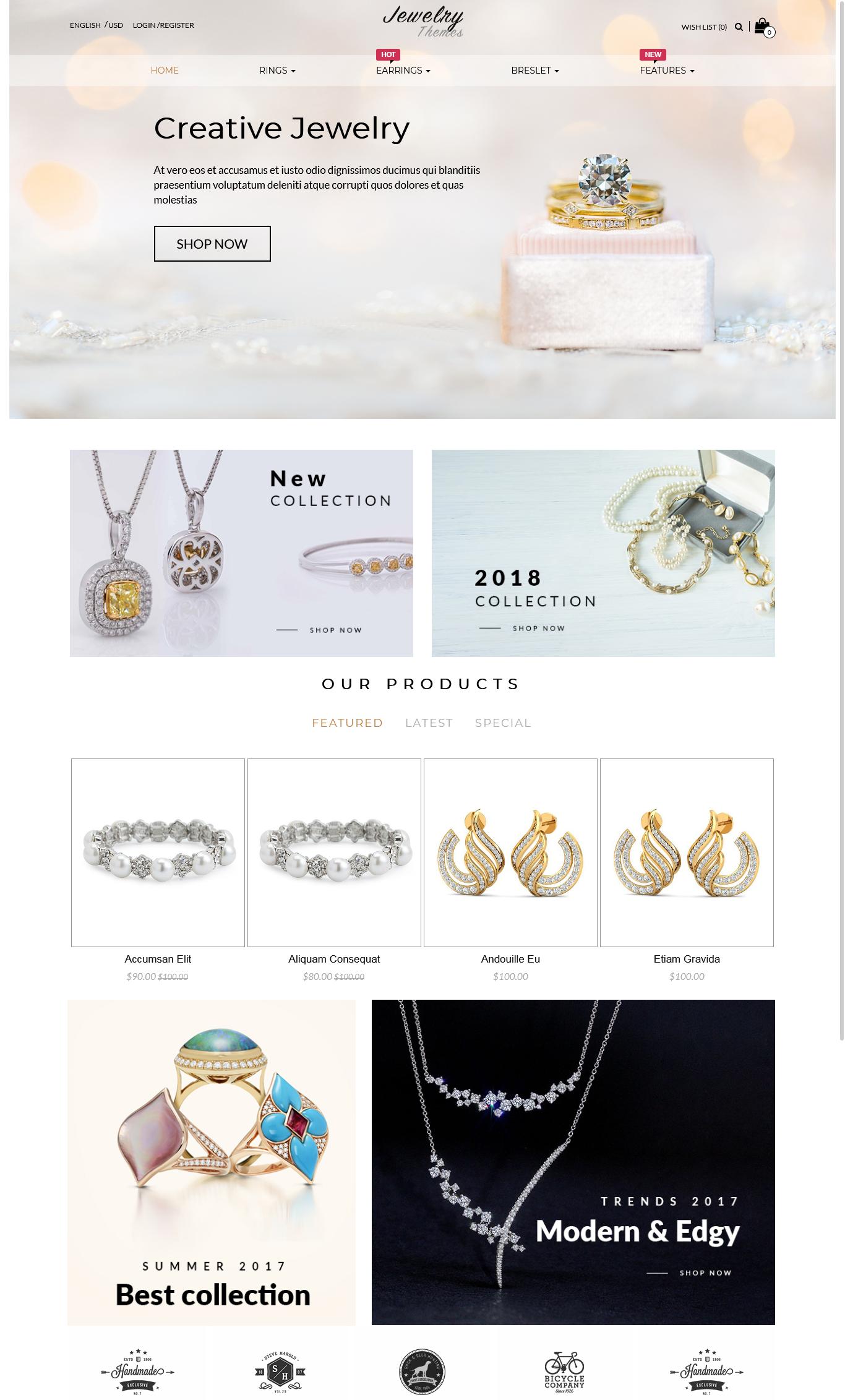 Responsive OpenCart Theme Template - Jewelry