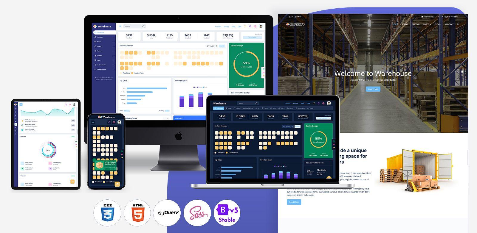 Warehouse Bootstrap 5 Admin Dashboard