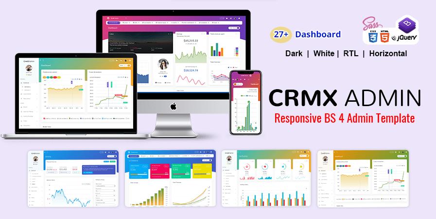 CRM Admin Dashboard Template