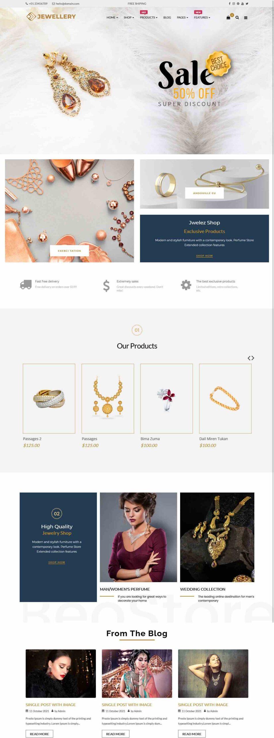 Jewelz Premium OpenCart Theme