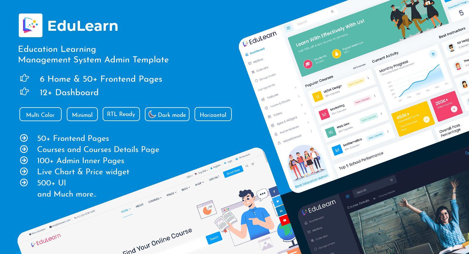 Online Education Courses HTML Templates